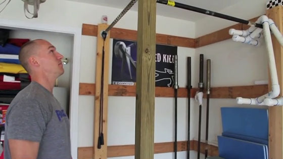 Diy pull up bar garage projects