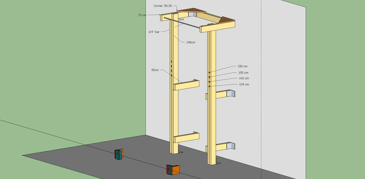 Squat rack plans wood cosmecol for Homemade pull up bar plans
