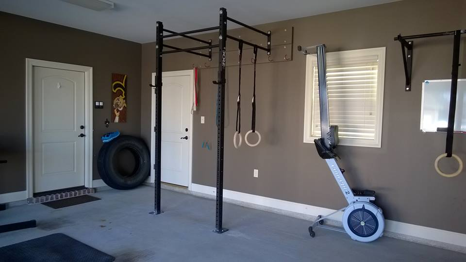 Garage workout room at home or the gym personalised