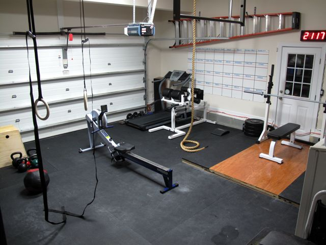 Garage mma gym and weight room youtube