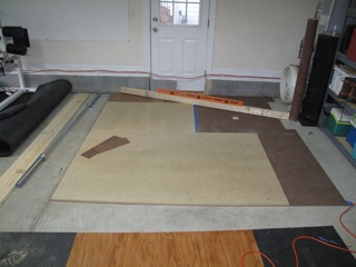 Leveling a weightlifting platform compound angle crossfit