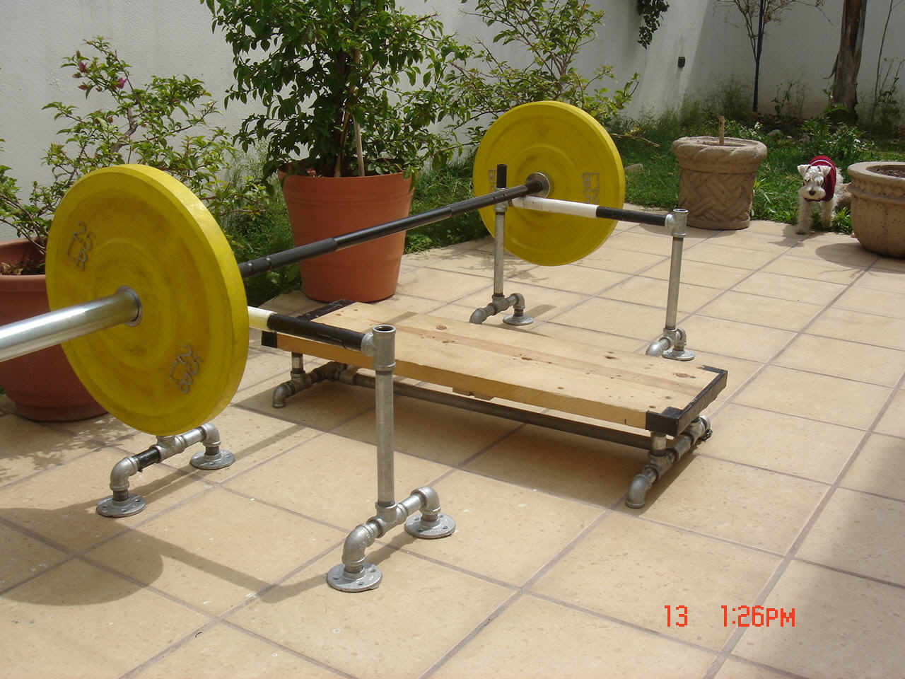 Diy Bench Press Rack Option If You Can T Afford A Real Squat Rack