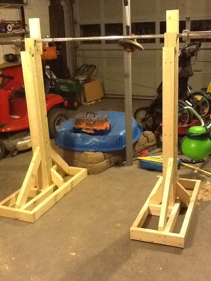 Home made squat equipment sherdog forums ufc mma for Diy squat stands